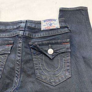 True Religion Jeans - True Religion Leggings w/ Flap Black Coated Jeans